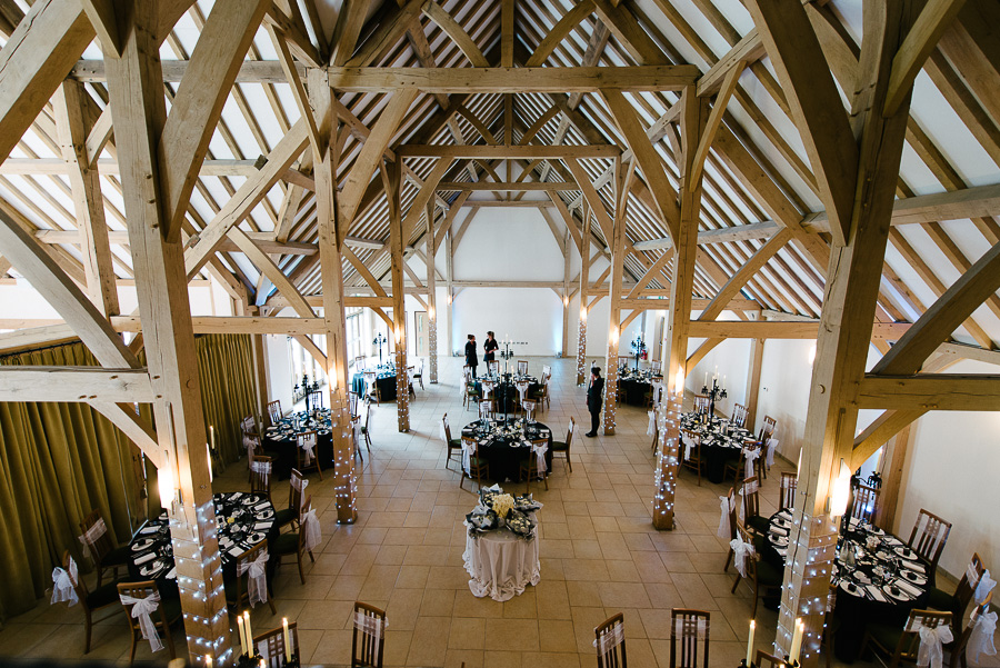 Rivervale Barn Yately Hampshire Wedding Photographer Dining Barn
