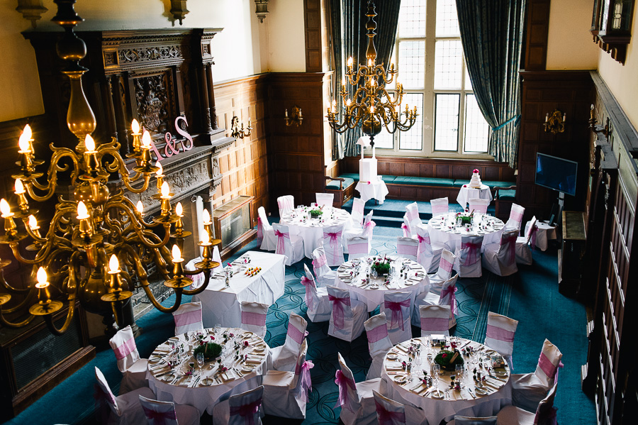 rhinefield house hotel hampshire wedding photographer wedding breakfast room