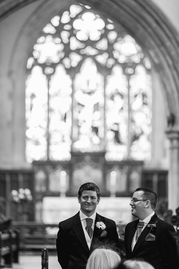 rhinefield house hotel hampshire wedding photographer groom waiting