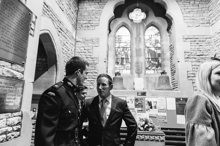 St Michaels Church Bath Somerset Wedding Photographer chat