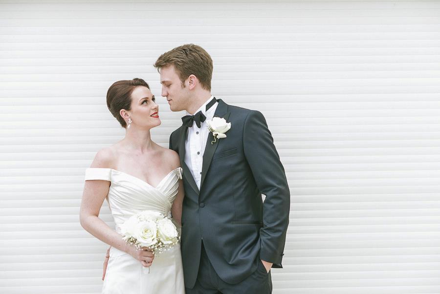 Sandbanks Hotel Dorset Wedding Photographer Bride and Groom looking intensly