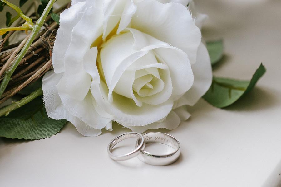 Kings Hotel Christchurch Dorset Wedding Photographer - Wedding rings