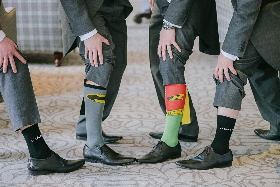 Kings Hotel Christchurch Dorset Wedding Photographer - Wedding socks