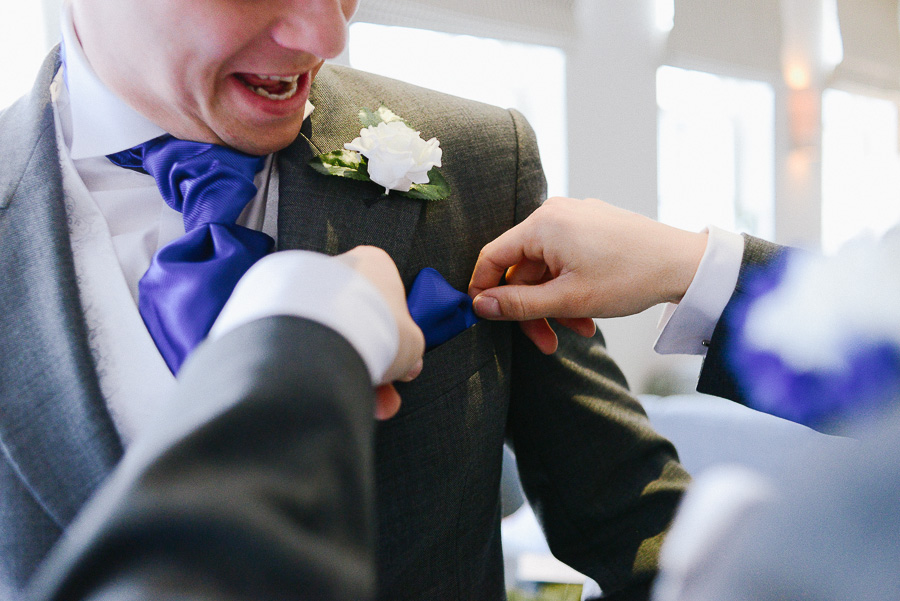Kings Hotel Christchurch Dorset Wedding Photographer - Wedding hankerchief