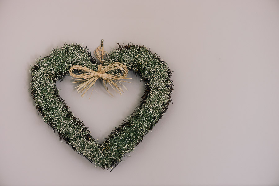 Green House Hotel Bournemouth Wedding Photographer heart on the wall