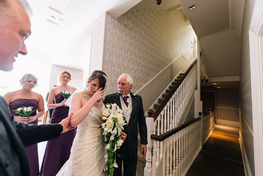 Green House Hotel Bournemouth Wedding Photographer nicole the bride before going in