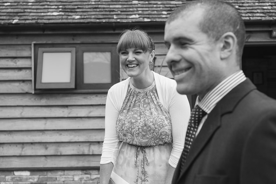 kingston country courtyard wedding guest laughing again