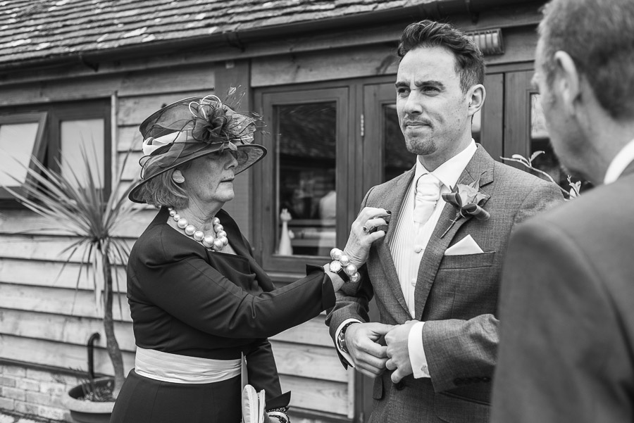 kingston country courtyard wedding guest being re-arranged