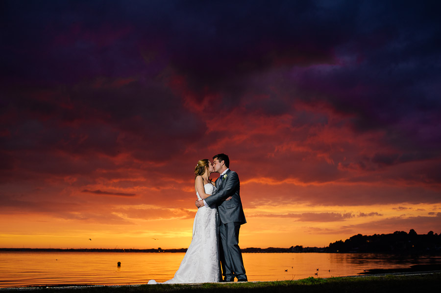 Sandbanks Hotel Dorset Wedding Photography Aweomse Sunset
