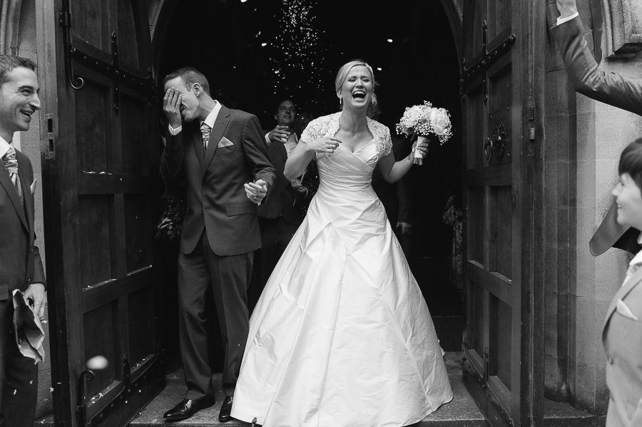 Langtry Manor Bournemouth Wedding Photographer Confetti fun