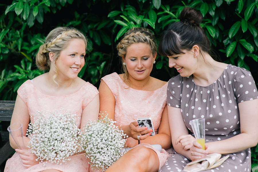 Langtry Manor Bournemouth Wedding Photographer Bridesmaids and friend