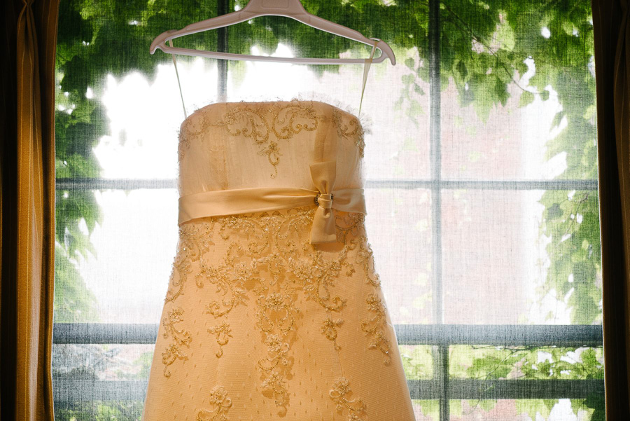 poole wedding photography hotel du vin wedding dress hung up