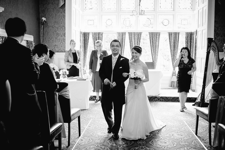 Langtry Manor Hotel Bournemouth wedding ceremony bride and groom leaving