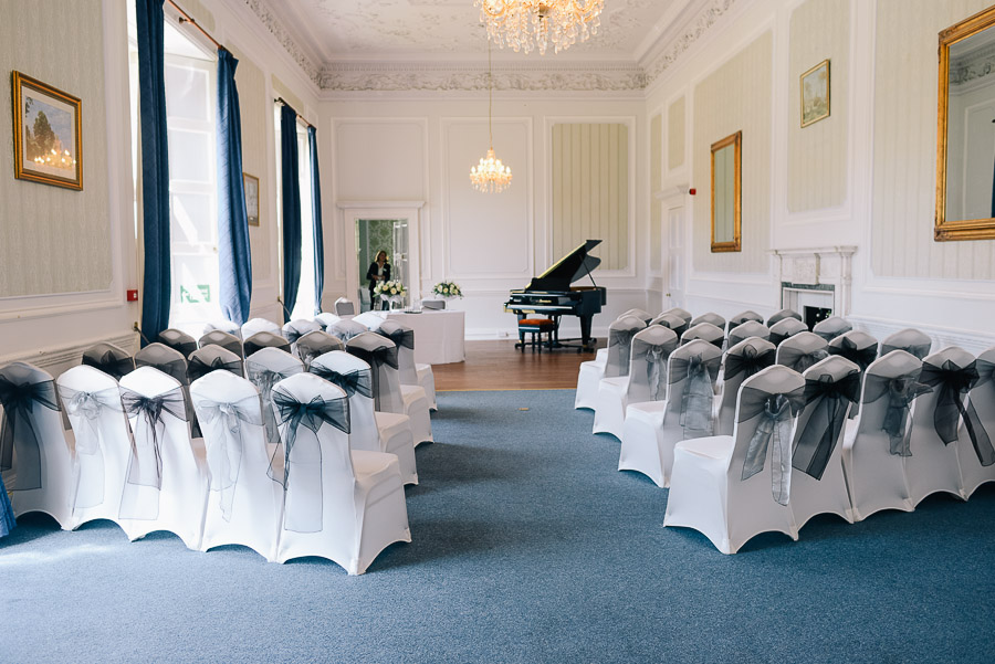 Ceremony room at merley house in wimborne dorset