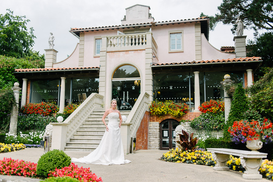 italian villa at compton acres bridal wedding photography light haired bride central