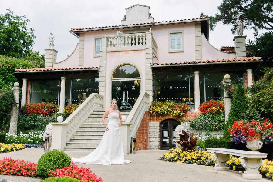 italian villa at compton acres bridal wedding photography light haired bride central