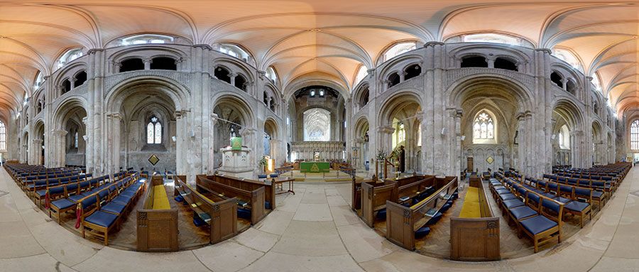 see inside christchurch priory
