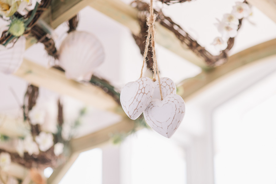 sandbanks bournemouth beach wedding decoration