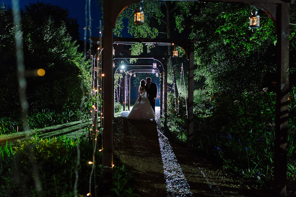 awesome silhouetted bride and groom portraits at weddings at the Old Vicarage christchurch