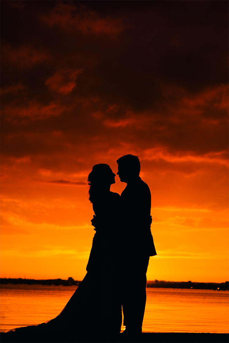 Sunset Wedding photography at Sandbanks Hotel Dorset » TP ...