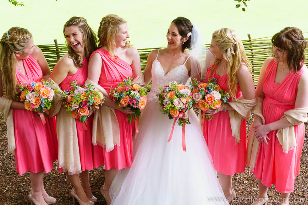 Kate and her Bridesmaids at Longhouse Bruton