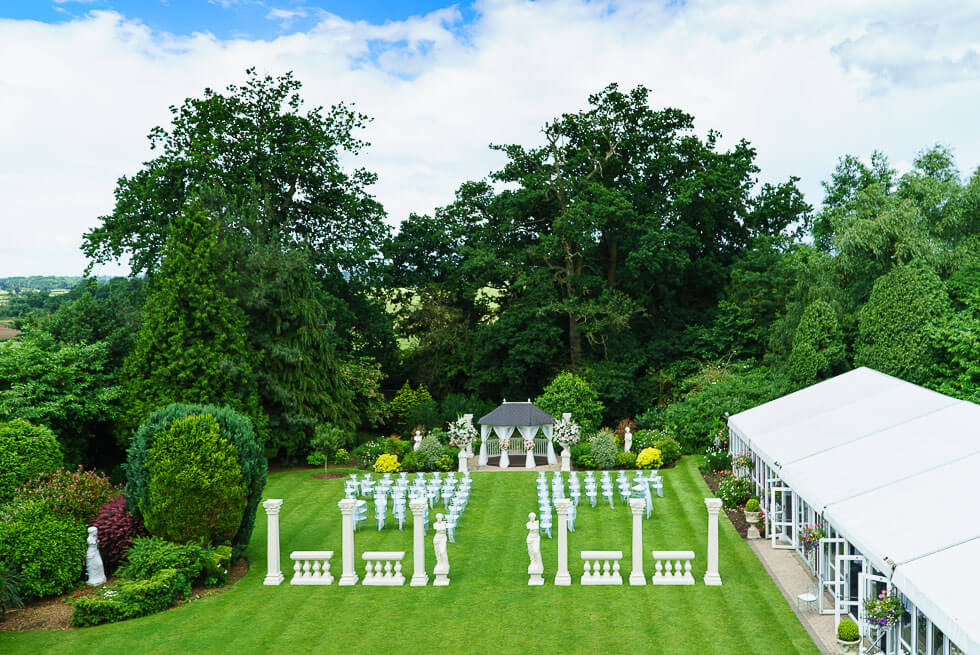 trunkwell house hotel setup for a wedding