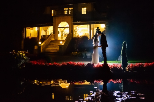 A wonderful wedding day and night at the italian villa