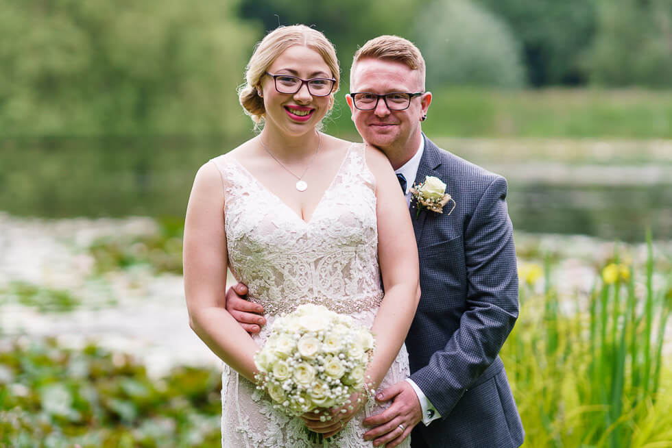keely and dan get married at bennetts water gardens